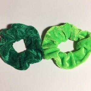 NEW Set of 2 Velvet Hair Scrunchies